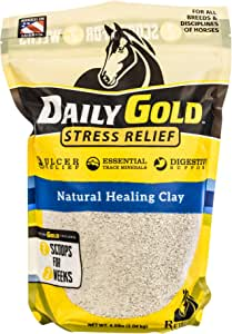 Redmond - Daily Gold Stress Relief | Natural Healing Clay for Gastric Ulcers in Horses, 4.5 lb. Pouch