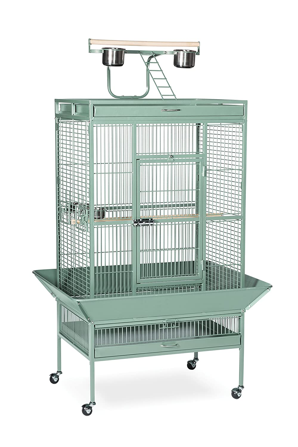 Prevue Pet Products Wrought Iron Select Bird Cage Black Hammertone 3151BLK Inc. 3151W