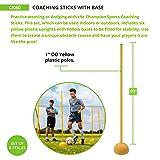 Champion Sports Coaching Sticks with Base Set