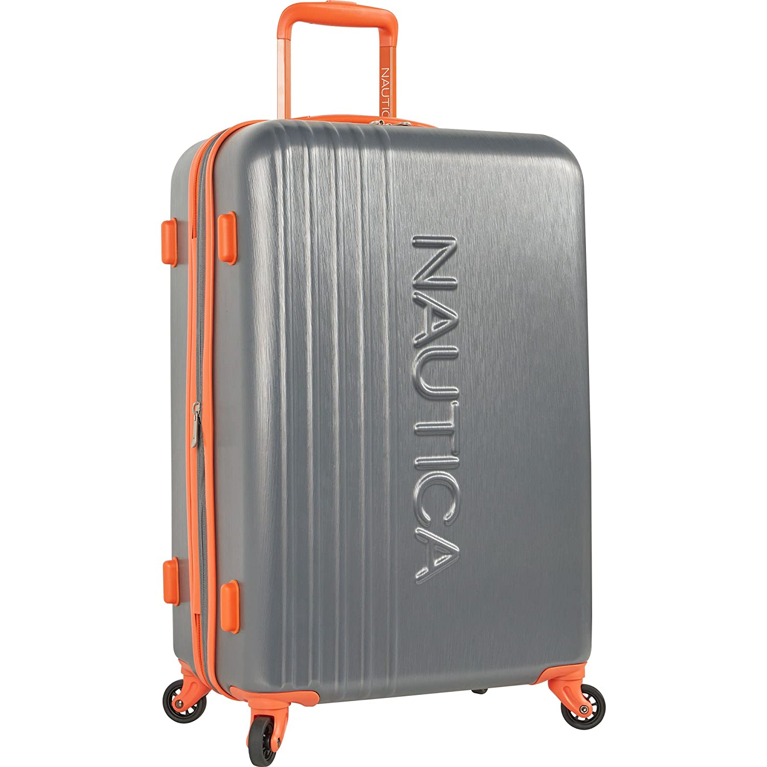 54b9b2ebb Amazon.com | Nautica Hardside Carry On Luggage - 20 Inch Spinner Wheels  Suitcase Lightweight Rolling Travel Bag for Under Seat, Grey | Suitcases