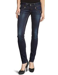 Gang Damen Skinny Jeans Faye Blue Power Stretch Blau (Dark