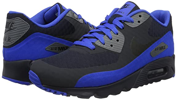 Amazon.com | Nike Mens Air Max 90 Ultra Essential Running Shoes, Dark Obsidian/Black, 8 M US | Road Running