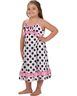 Laura Dare Little Girls in The Pink Reversible Strappy Nightgown