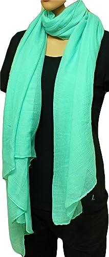 FIA MONETTI Estola de bufanda de mujer - Verde - 180 x 70 cm - Bufanda en diferentes colores - un ac...