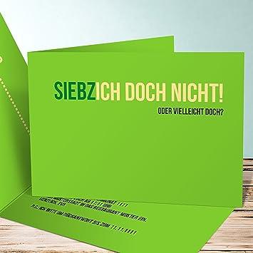 Einladungen Für 70 Geburtstag, Siebzich 5 Karten, Horizontale Klappkarte  148x105 Inkl. Weiße Umschläge
