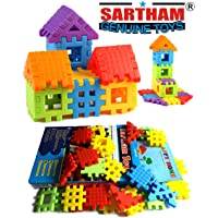 Sartham, Building Block Toy for Kids, Age 3+, Multicolor (30 Blocks)