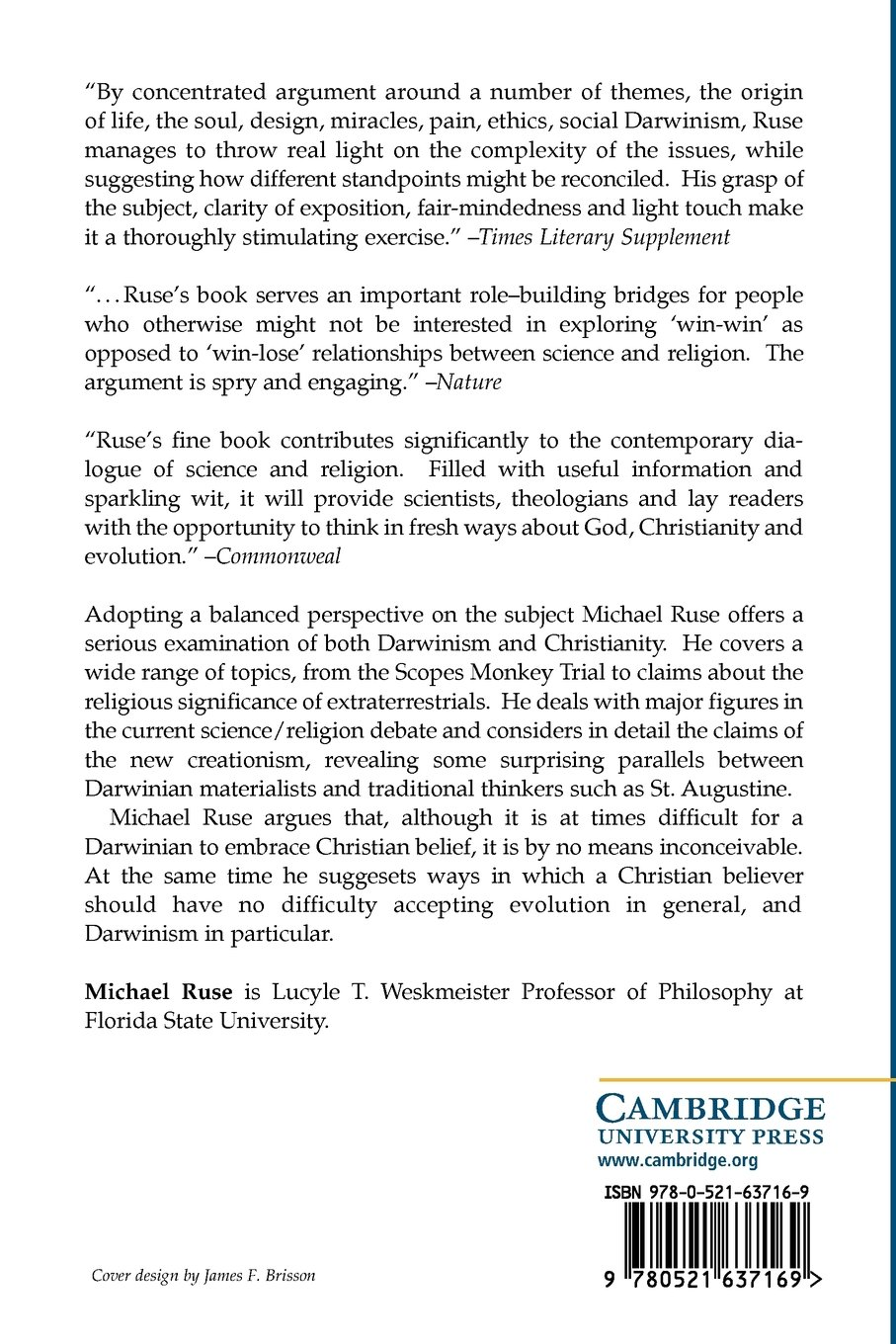 can a darwinian be a christian the relationship between science the relationship between science and religion amazon co uk michael ruse 9780521637169 books
