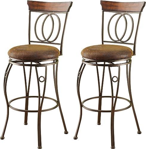 ACME 96046 Set of 2 Tavio Swivel Bar Chair