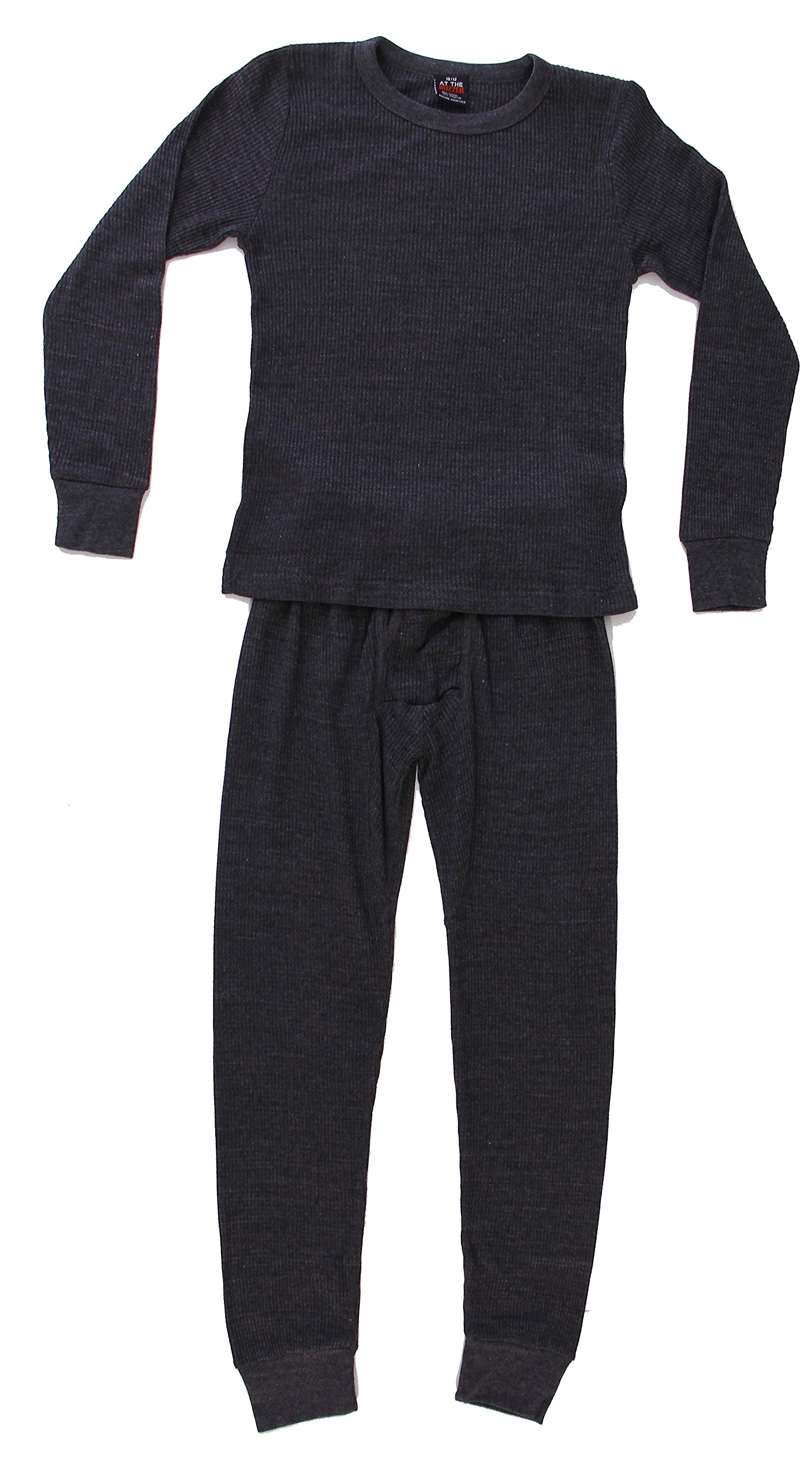 At The Buzzer Thermal Underwear Set for Boys 95362-Charcoal-10/12 by At The Buzzer