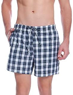 Aibrou Pantalon de Pijama Hombre Corto de Algodon Pantalón de Casa Vearno Salón Pantalones de Dormir a Cuadros: Amazon.es: Ropa y accesorios