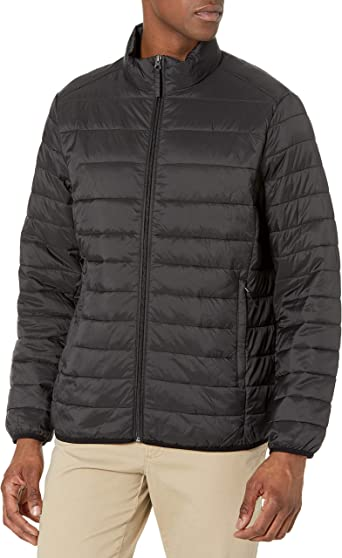 Amazon Essentials Men's Packable Puffer Jacket