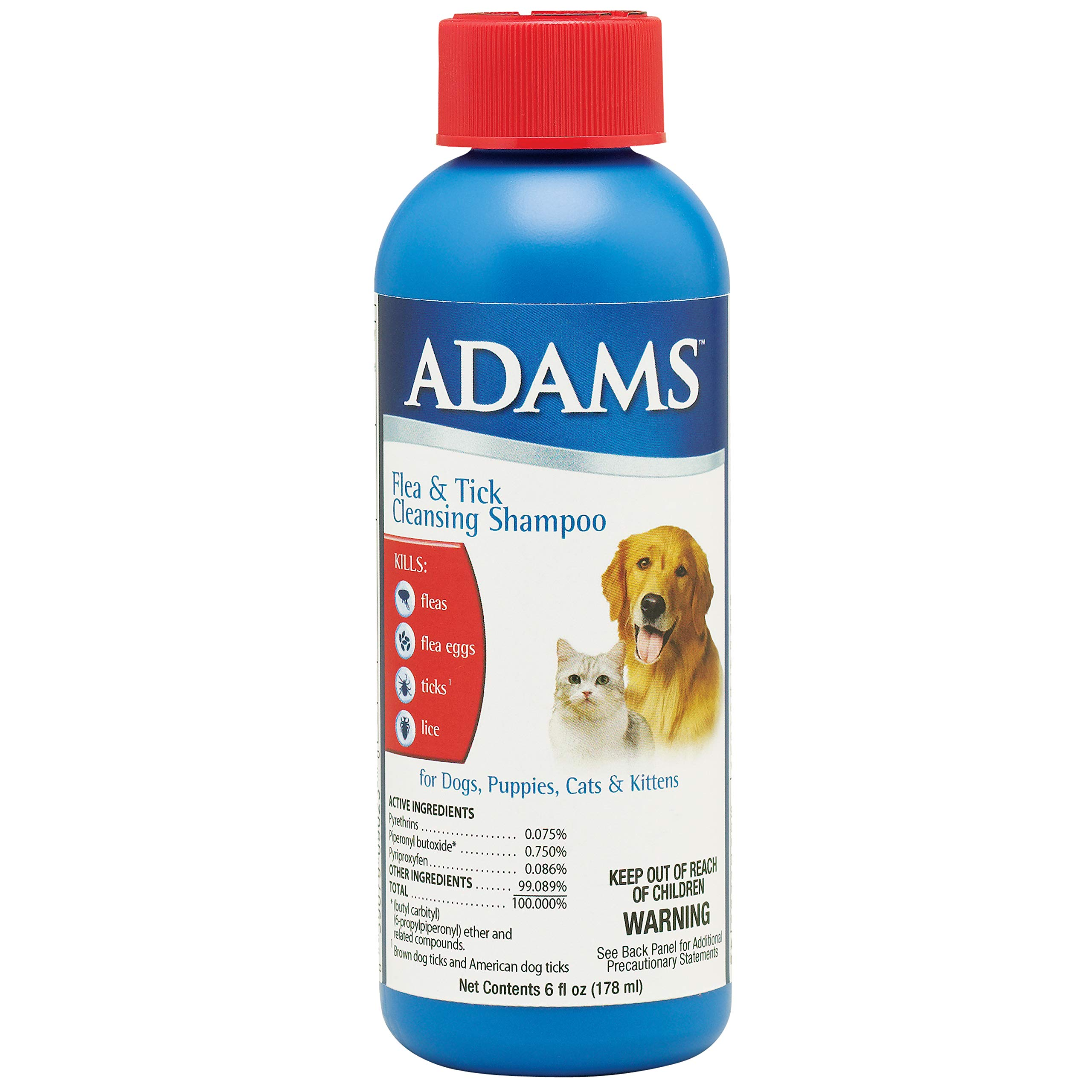 Adams Flea and Tick Control Cleansing Shampoo for Cats and Dogs by Adams