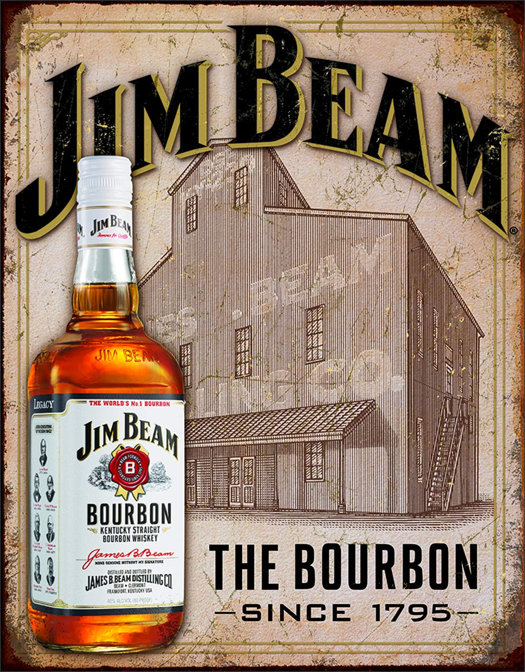 Amazon.com: Jim Beam – AÚN Casa Estaño firmar 13 x 16 en ...