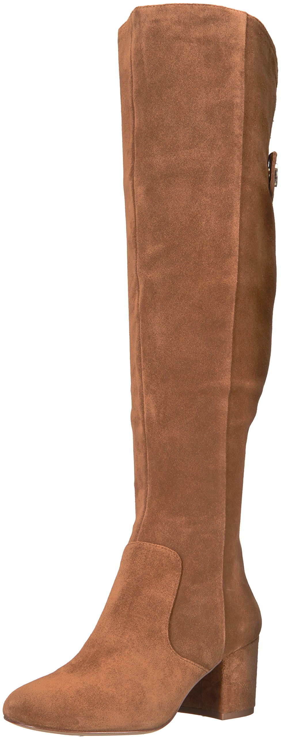 Nine West Women's Queddy Suede Over the Knee Boot, Brown, 9 Medium US