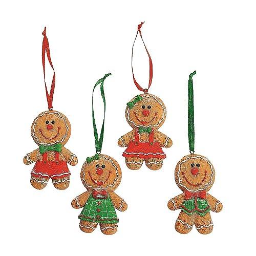 dozen 12 adorable big head gingerbread manboygirl cookie christmas tree - Candy Christmas Tree Decorations