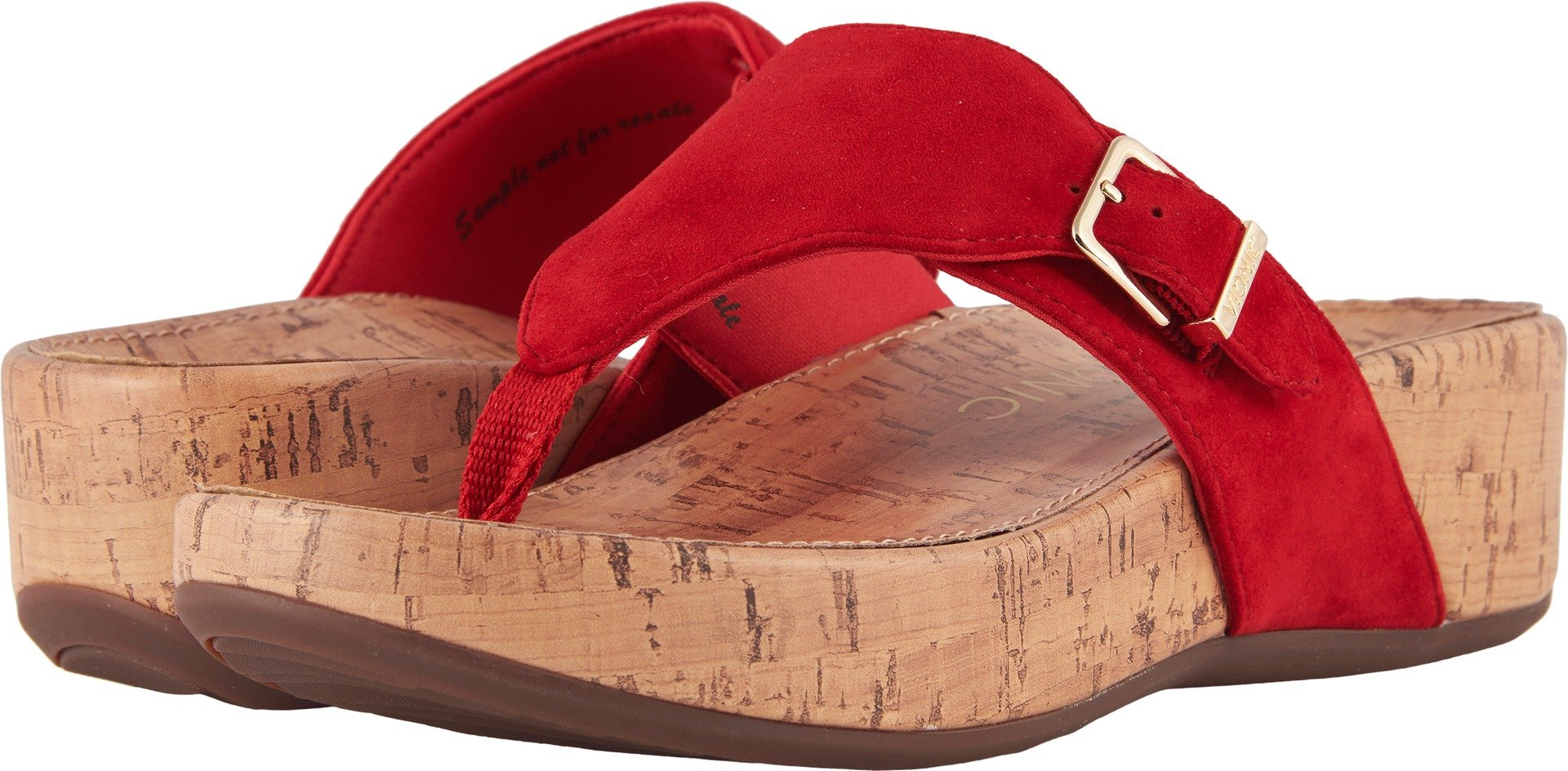 Vionic Womens Marbella Platform Sandal, Red, Size 10