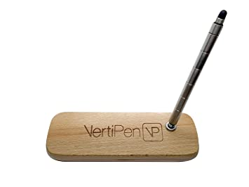 Vertipen stylo stylet portable acier inoxydable et bracelet en bois