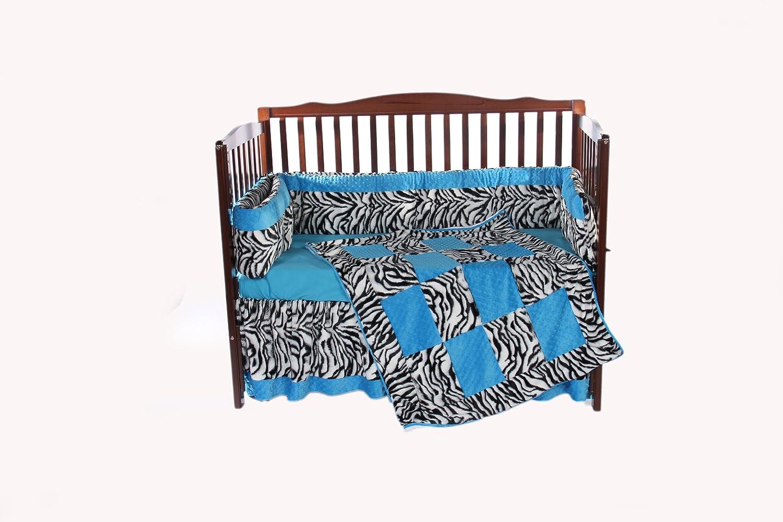 Baby Doll Bedding Zebra Minky 3 Piece II Crib Bedding Set by BabyDoll Bedding   B007G3BZIU