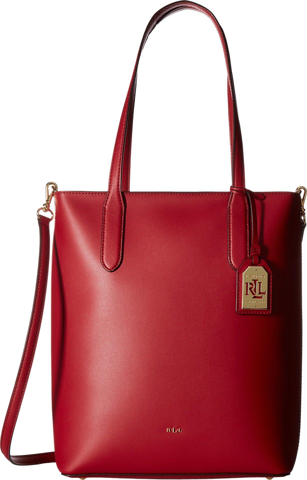 LAUREN Ralph Lauren Women's Dryden Alexis Tote Crimson/Truffle One Size
