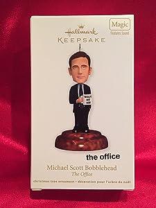 Hallmark Magic Ornament 2011 Michael Scott Bobblehead - The Office - #QXI2869