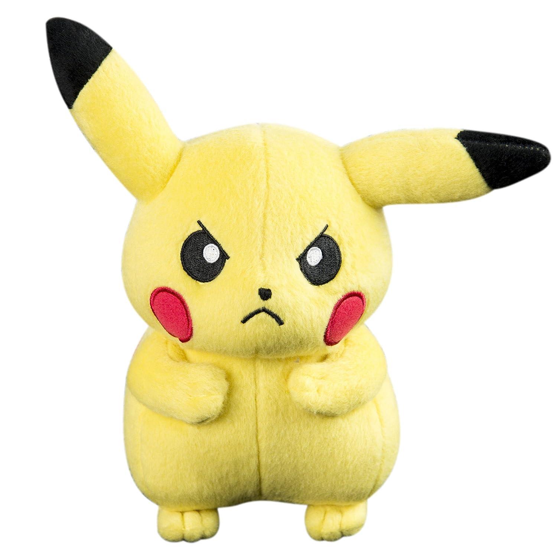TOMY Pikachu Peluche–Pokémon Peluche 20cm de Haute qualité–pour Jouer et à Collectionner–à partir de 3Ans T18536B5-PIKACHU