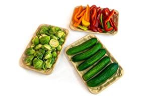 Footprint Fiber 2S Uncoated Meat & Veggie Trays (440 Pack) - Biodegradable, Eco-Friendly Meat & Veggie Trays in Bulk for Grocery Supermarket Stores & Farm Fresh Packaging