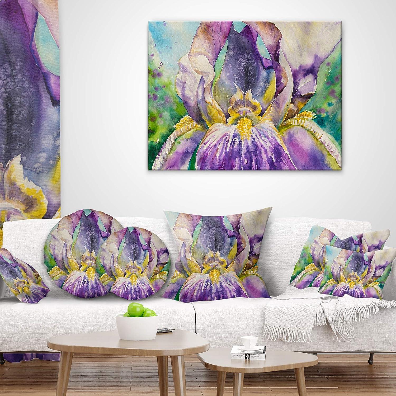 Designart Cu9318 20 20 C Iris Flower Close Up Throw Pillow 20 Throw Pillow Covers Home Kitchen