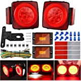 Kohree 2019 New 12V Led Trailer Light Kit, Boat Submersible Trailer Tail Light Utility Led Trailer Lights and Wiring Kit…