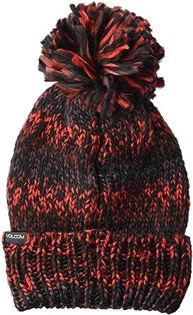 24554807e15 Volcom Women s Chevron Chunky Silk Acrylic Yarn Snow Beanie at Amazon  Women s Clothing store