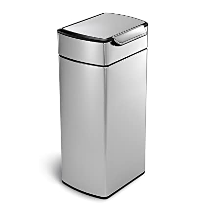 Simplehuman Rectangular Touch Bar Trash Can Stainless Steel 30