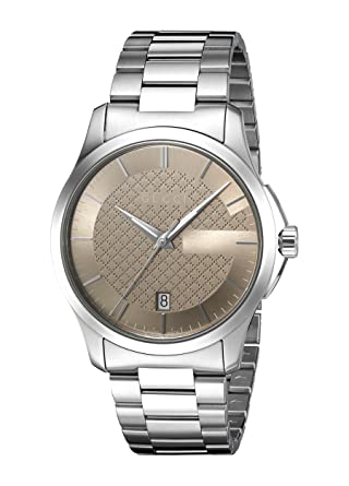 af96f65a167 Amazon.com  Gucci  G-Timeless  Quartz Stainless Steel Silver-Toned ...