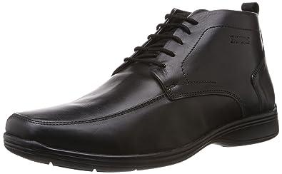 Pavers England Men's Black Leather Boots - 11 UK