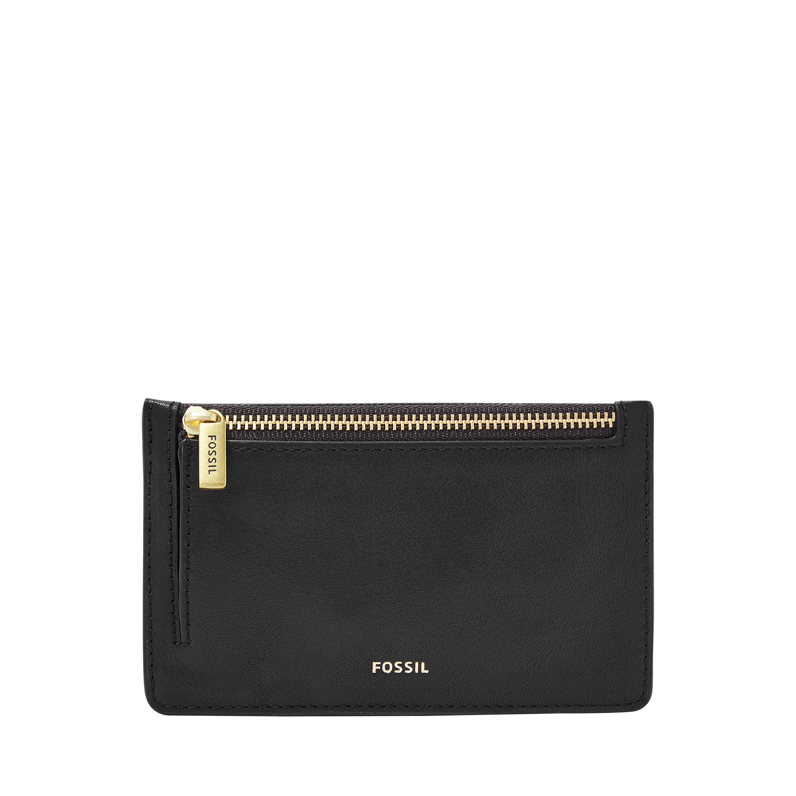 Fossil Logan Zip Coin Black by Fossil