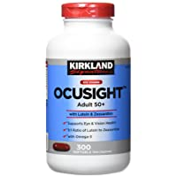 Kirkland Eye Vitamin OcuSight Adult 50+ with Lutein & Zeaxanthin, 300 softgels