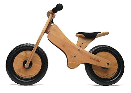 amazon com kinderfeets 98571 balance bike brown toys games rh amazon com Wooden Balance Bikes for Toddlers Square Wooden Balance Bike Tires