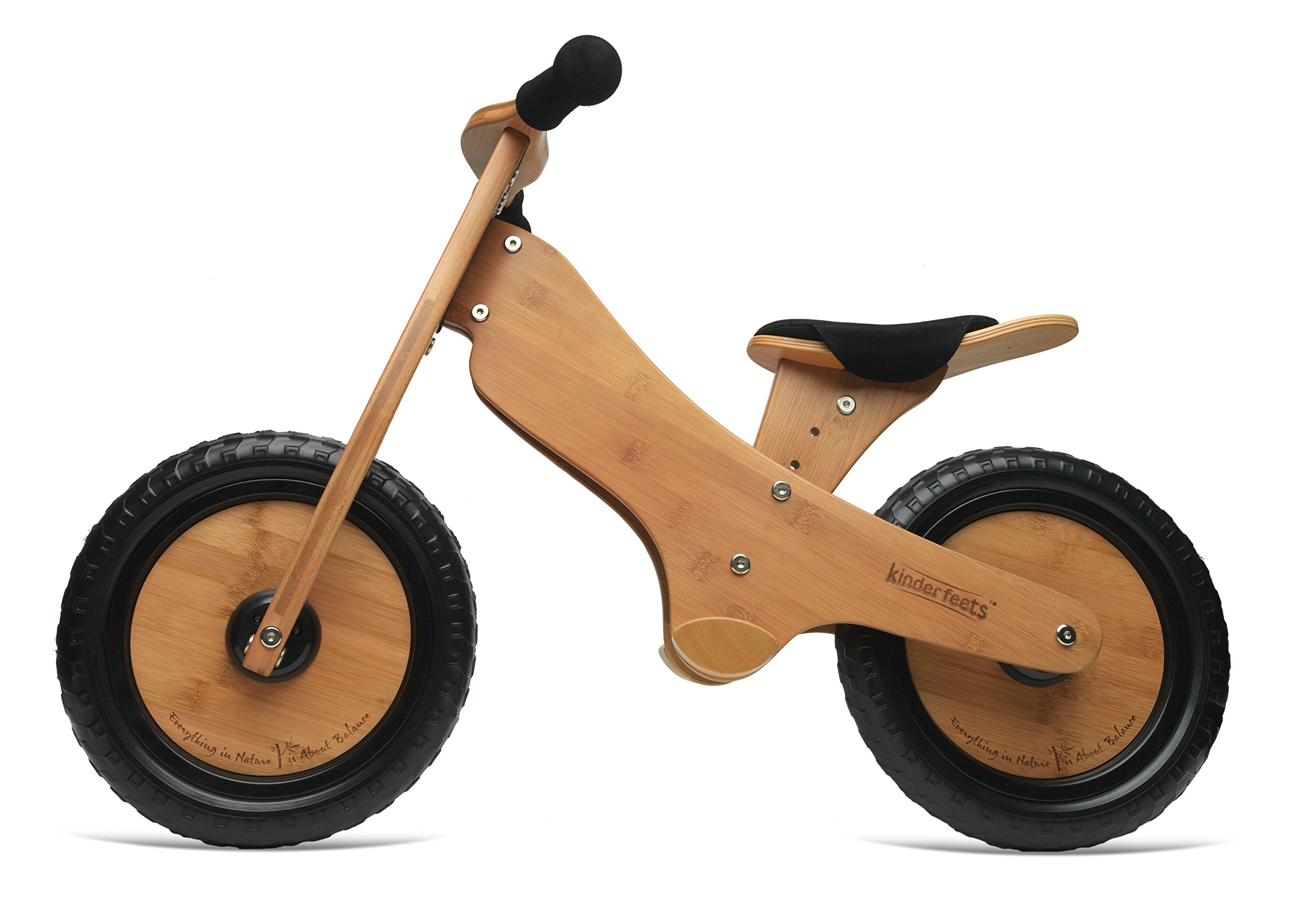 Kinderfeets Bamboo Balance Bike. Kids Training No Pedal Balance Bike by Kinderfeets