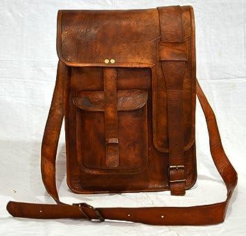 Hombres de piel auténtica vacuno marrón Attache - maletín para ordenador portátil de 16 bolsas cartera: Amazon.es: Hogar