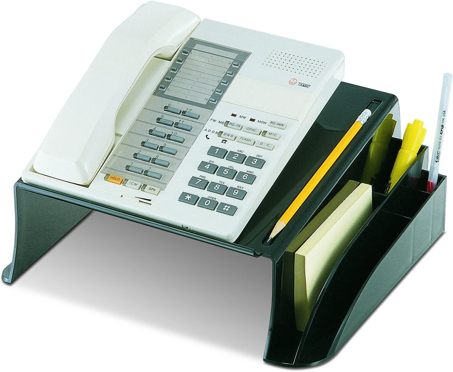 Officemate 2200 Series Executive Telephone Stand, Black (22802) : Desk Phone Stand : Office Products
