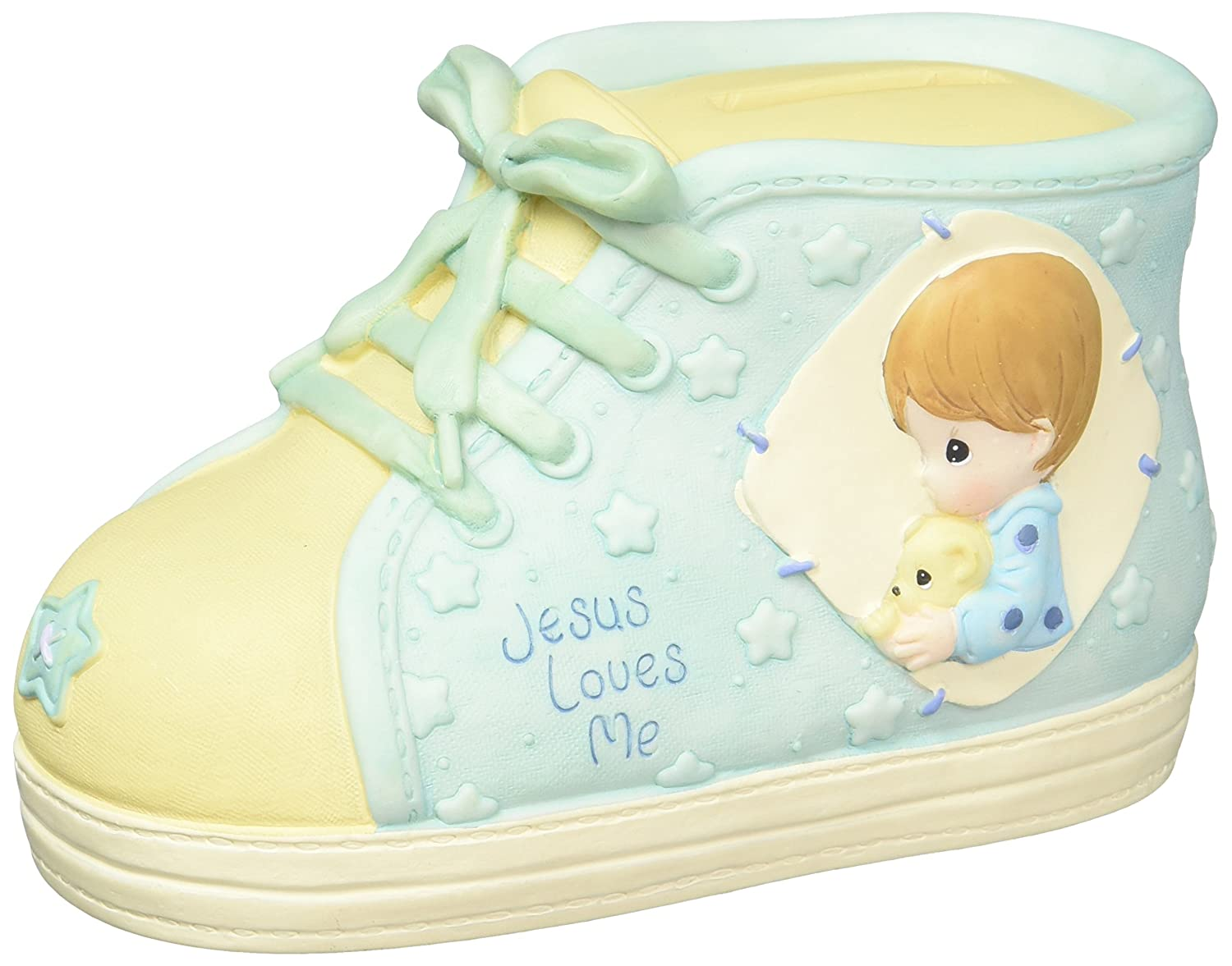 701084 Precious Moments Boy Praying With Doll Cross