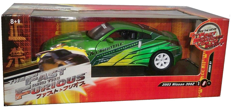 ERTL 1/18 Diecast Model Car Fast & Furious Tokyo Drift - 2003 Nissan 350Z Green B003IRJXNW