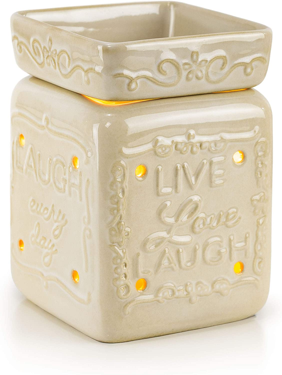 VP Home Ceramic Fragrance Warmer (Live Love Laugh)