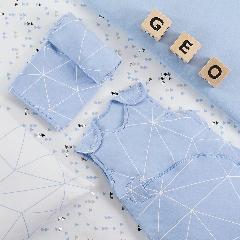 Paquete de 2 sábanas bajeras Snuz para moisés y cochecito de bebé Breeze Geo: Amazon.es: Bebé