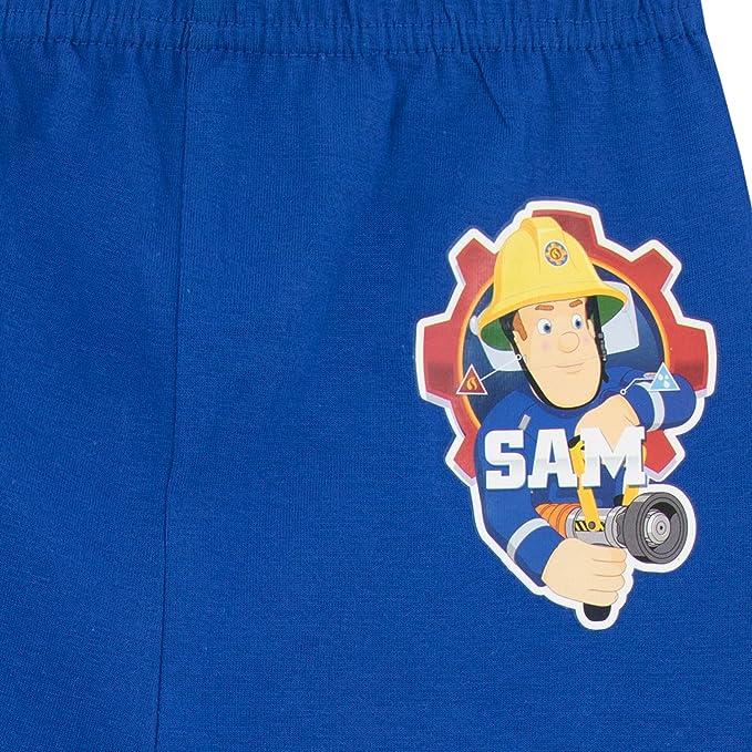 Feuerwehrman Sam Pompiers pyjama pyjama lingerie de nuit manches longues bleu