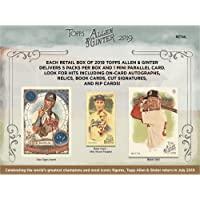 $62 » 2019 Topps Allen and Ginter Baseball Factory Sealed 24 Pack Retail Box - Baseball Wax Packs