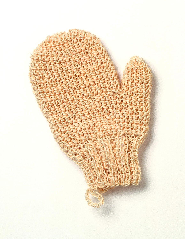 in sisal a maglia stretta fatto a mano Guanto a manopola per massaggi Magit