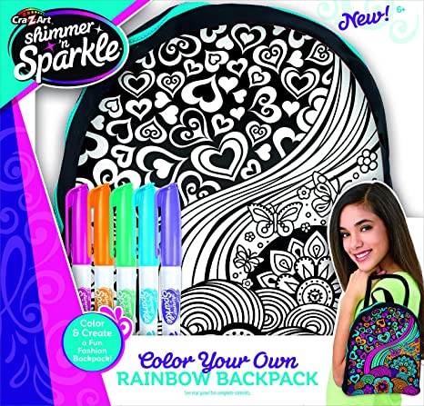 Cra Z Art Shimmer N Sparkle Color Your Own Backpack Fuse Beads Amazon Canada