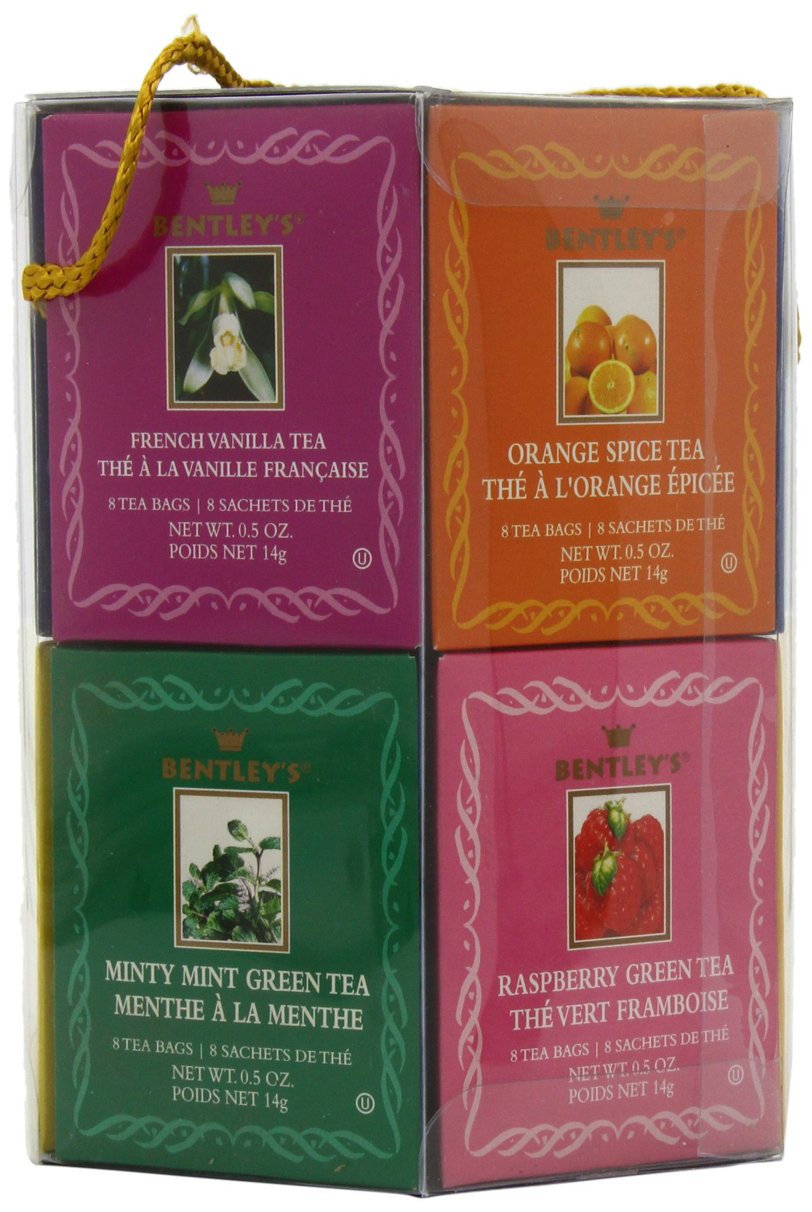 Bentley's Royal Classic Collection Assorted Flavor Gift Pack, 96 Tea Bags (Pack of 2), Includes 8 Bags Each of a Variety of Black and Green Tea Flavors by Bentley's (Image #6)