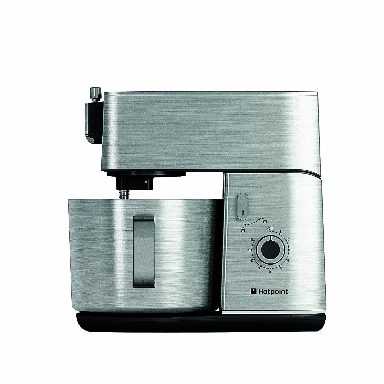 Hotpoint Multi-Functional Kitchen Machine, 400 Watt, Silver Indesit KM 040 AX0 UK