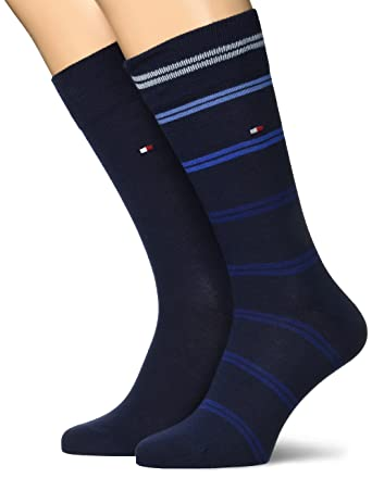 d2d01a09d Tommy Hilfiger TH Men Ribbon Stripe Sock 2P, Blue (Dark Navy), 6-8 Pack of  2: Amazon.co.uk: Clothing