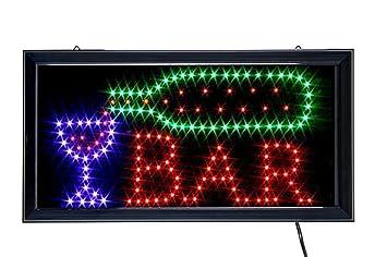 Reclamo luminoso letrero LED, motivo: BAR, medidas: 43,5 x 23,5 cm